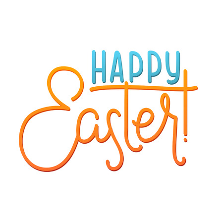 godness: Happy Easter Greeting Calligraphy Card. Illustration