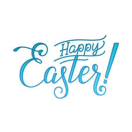 Happy Easter Groet Kalligrafie wenskaart Witte Achtergrond.