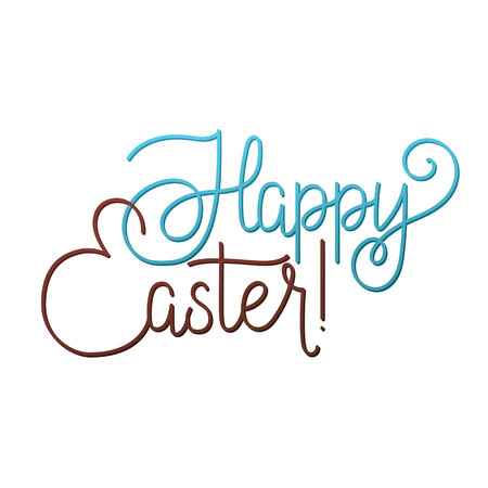 godness: Happy Easter Greeting Calligraphy Lovely Card. Easter Joy