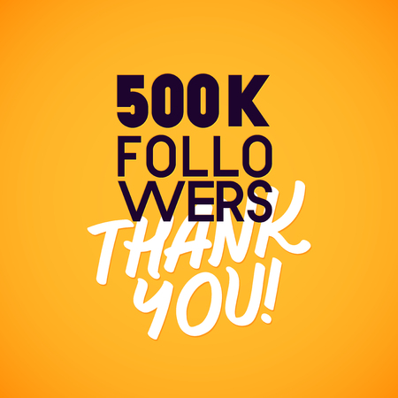 thousands: Vector thanks design template for network friends and followers. Thank you card. Image for Social Networks. Web user celebrates a large number of subscribers or followers.