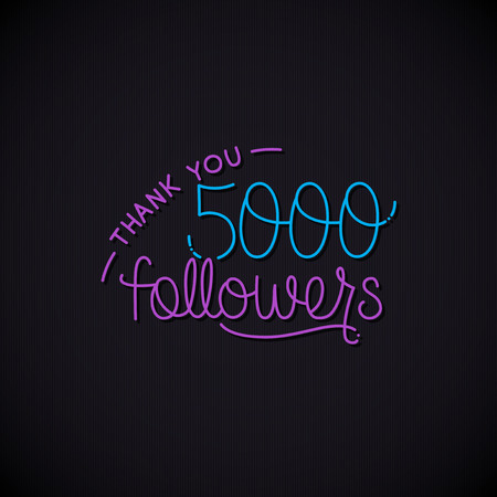 thanks design template for network friends and followers.