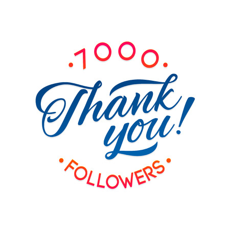 Thank you 7000 followers card. Vector thanks design template for network friends and followers. Image for Social Networks. Web user celebrates a large number of subscribers or followers Illustration