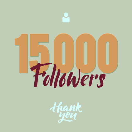 Vector thanks design template for network friends and followers. Thank you card. Image for Social Networks. Web user celebrates a large number of subscribers or followers.