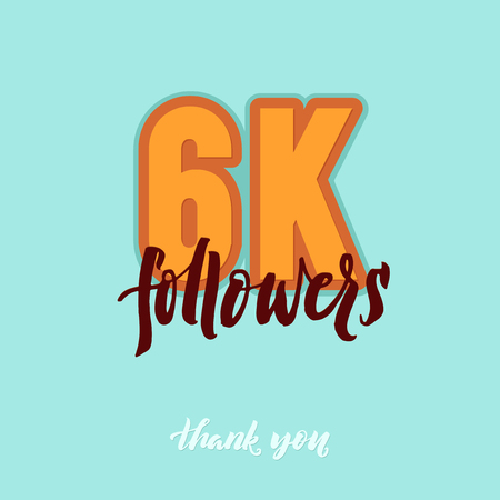 subscriber: thanks design template for network friends and followers. Thank you card. Image for Social Networks. Web user celebrates a large number of subscribers or followers. Illustration