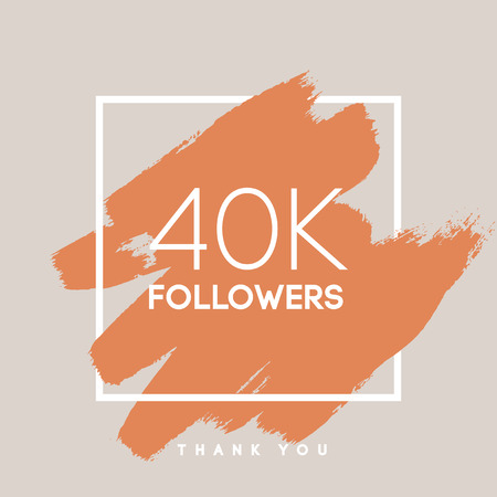 network card: Vector thanks design template for network friends and followers. Thank you 40 K followers card. Image for Social Networks. Web user celebrates large number of subscribers or followers.