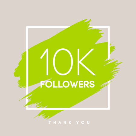 Vector thanks design template for network friends and followers. Thank you 10 K followers card. Image for Social Networks. Web user celebrates large number of subscribers or followers.