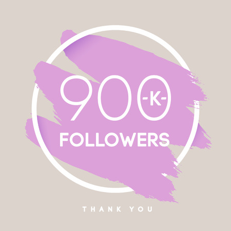 publisher: Vector thanks design template for network friends and followers. Thank you 900 K followers card. Image for Social Networks. Web user celebrates large number of subscribers or followers.