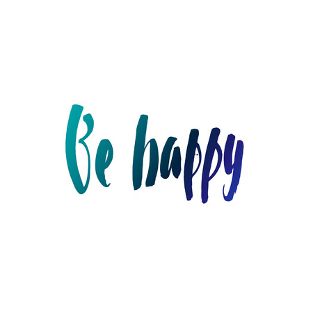 Calligraphic Motivation Quote Poster. Pen Stroke Font. Motivate Yourself. Hand drawn motivational quote. Modern brush pen lettering. Be Happy