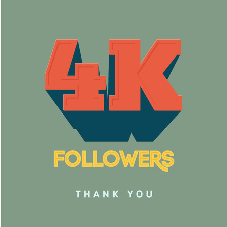 tweet icon: Vector thanks design template for network friends and followers. Thank you 4000 followers card. Image for Social Networks. Web user celebrates a large number of subscribers or followers.