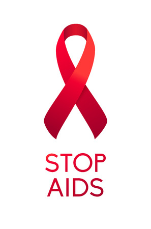 Stop Aids Ribbon Icon. World AIDS Day 1 December.