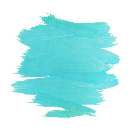 Mouvement turquise bleu peinture aquarelle tache isolé sur fond blanc. Dynamique coup de pinceau. illustration vectorielle. Banque d'images - 69253741
