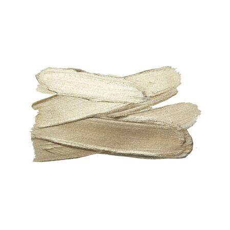 Coup de pinceau de peinture argentée sur fond blanc. Illustration vectorielle. Brosse abstraite texturée de vecteur de peinture argentée grise