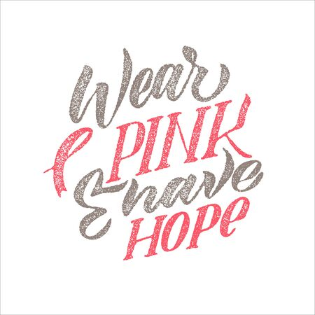 Breast Cancer Awareness Month Design. Pink Grey Texture Poster. Creative Pink And White Round Design, Motivational Banner.