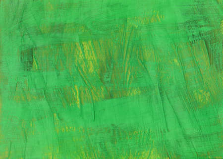 Green Paint raster background. white brash strokes texture