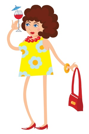funny lady Stock Vector - 22167838
