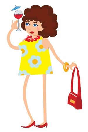 funny lady Illustration