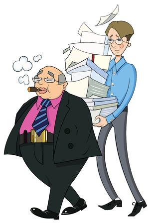 plump lips: Two men office clerks