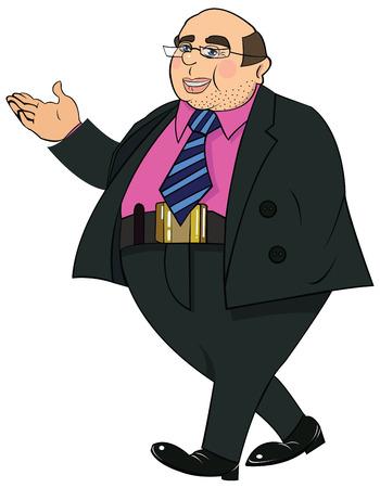 mature business man: illustration Businessman makes an offer