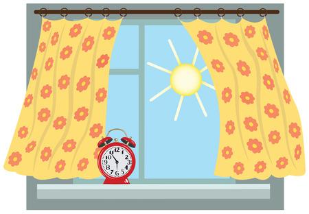 Sunny morning,window