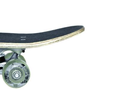 Skateboard on white background isolates Stok Fotoğraf