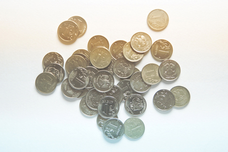 A handful of color coins