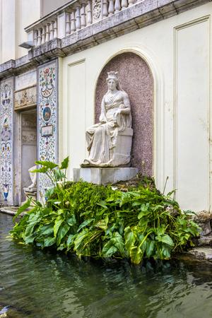 VATICAN, VATICAN CITY - JUNE 16, 2014: View at Vatican Gardens elements of the facade loggia casino Pius IV, Rome, Italy. Sajtókép