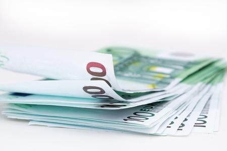 Money euro isolated on white background