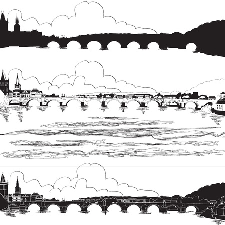 Charles Bridge, Prague Illustration