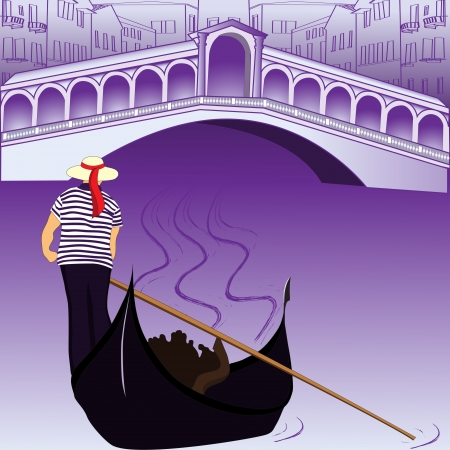 gondolier: Canal of Venice