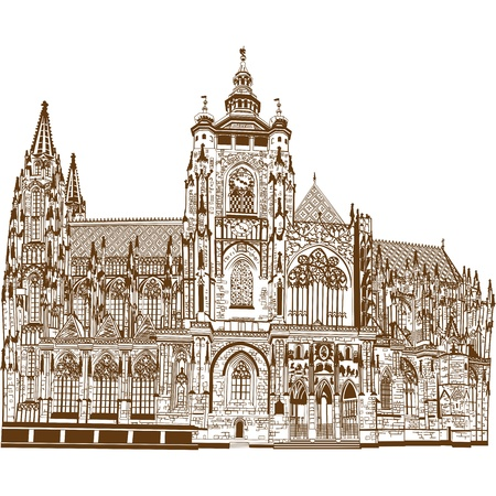 cathedrals: St  Vitus Cathedral Illustration