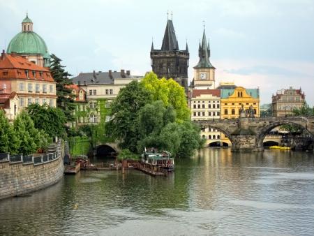 citytrip: Charles Bridge, Prague Stock Photo