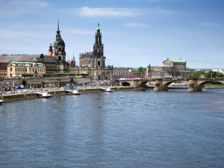 Cityscape of old Dresden