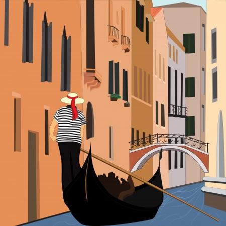 venice gondola: Canal of Venice
