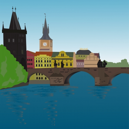 Charles Bridge Vector