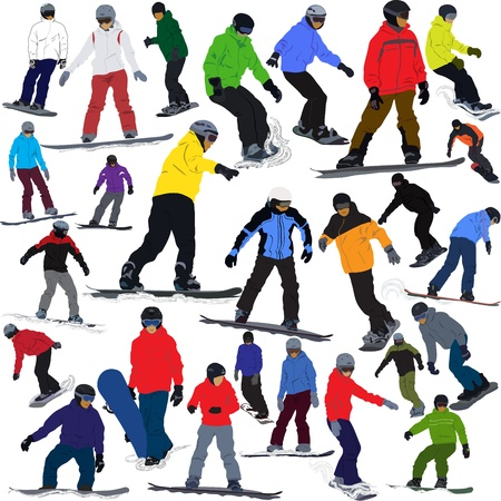 Snowboarding Stock Vector - 15545688