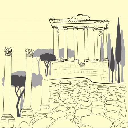 Roman Forum Illustration