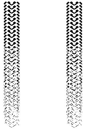 fading: 타이어 트랙 페이딩 일러스트