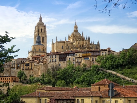 Cathedral of Segovia Stock Photo