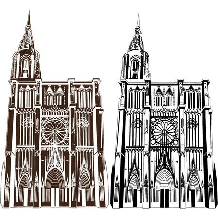 Notre Dame de Strasbourg Stock Vector - 16679147
