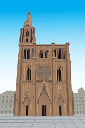 Notre Dame de Strasbourg Stock Vector - 16679134