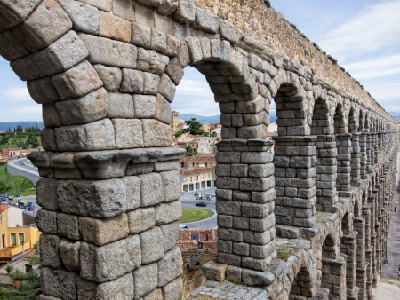 Aqueduct in Segovia Stock Photo