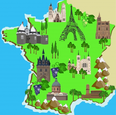toulouse: Map of France