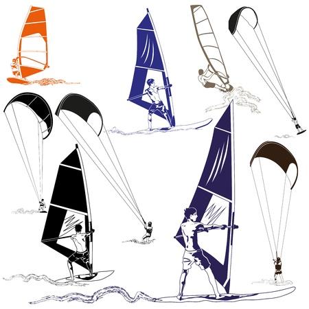 wind surf: Kite y Wind Surfers