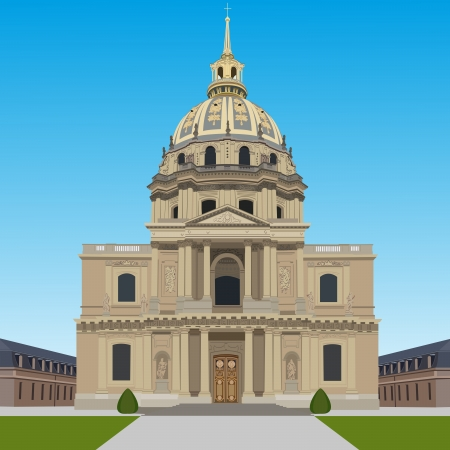 Les Invalides Stock Vector - 18678294