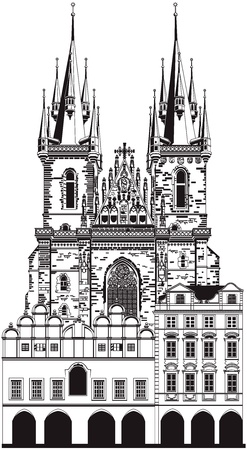czech republic: Church of Our Lady before Tyn, Prague