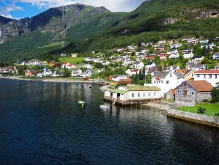 Norway. Fishing village by the Sea photo