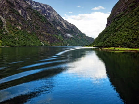 Sogne fjord in the north of Norway