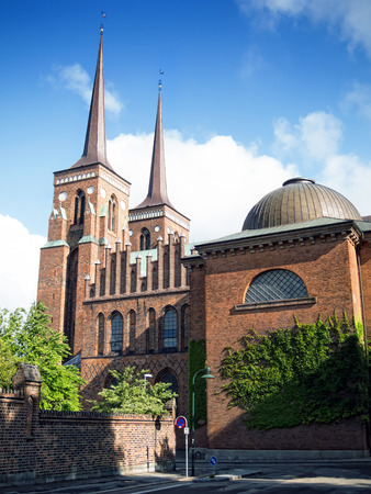 Cathedral in the city of Roskilde, Denmark
