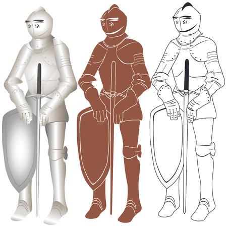 Векторное изображение рыцаря в железных доспехах