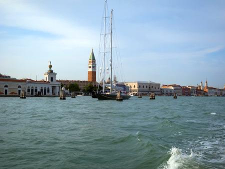 st  mark's square: St Marks Square Campanile Doges palace arcades Venice.
